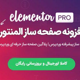 دانلود افزونه صفحه ساز وردپرس Elementor Pro