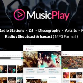 دانلود قالب موزیک وردپرس MusicPlay