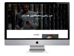 طراحی سایت شخصی متخصص شبکه